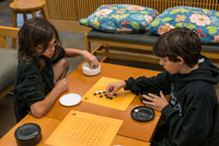 Students playing Go during Activities Period.