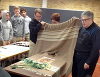 Fr. Gregory gives a lesson on the Virgin of Guadalupe.